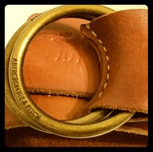 RARE Abercrombie & Fitch Vintage Leather Belt s/xs